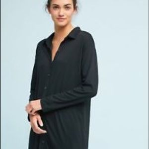 Anthropologie Postmark Maxi Button Down Tunic
